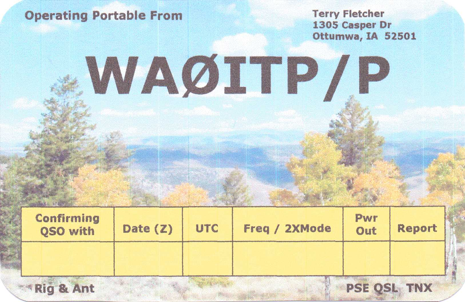 Wb8rcr dial and qsl maker page often the subject of making our own qsl cards comes up in conversation and just as often john mcdonough wb8rcrs program qslmaker is mentioned kristyandbryce Image collections