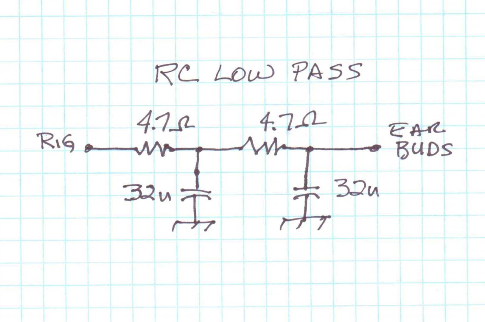 Rc low pass filter calculator.